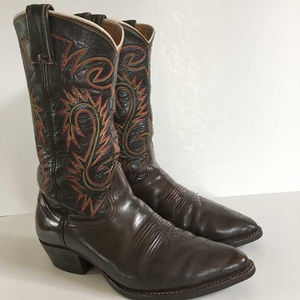 Nocona brown cowboy western boots men's 10 D